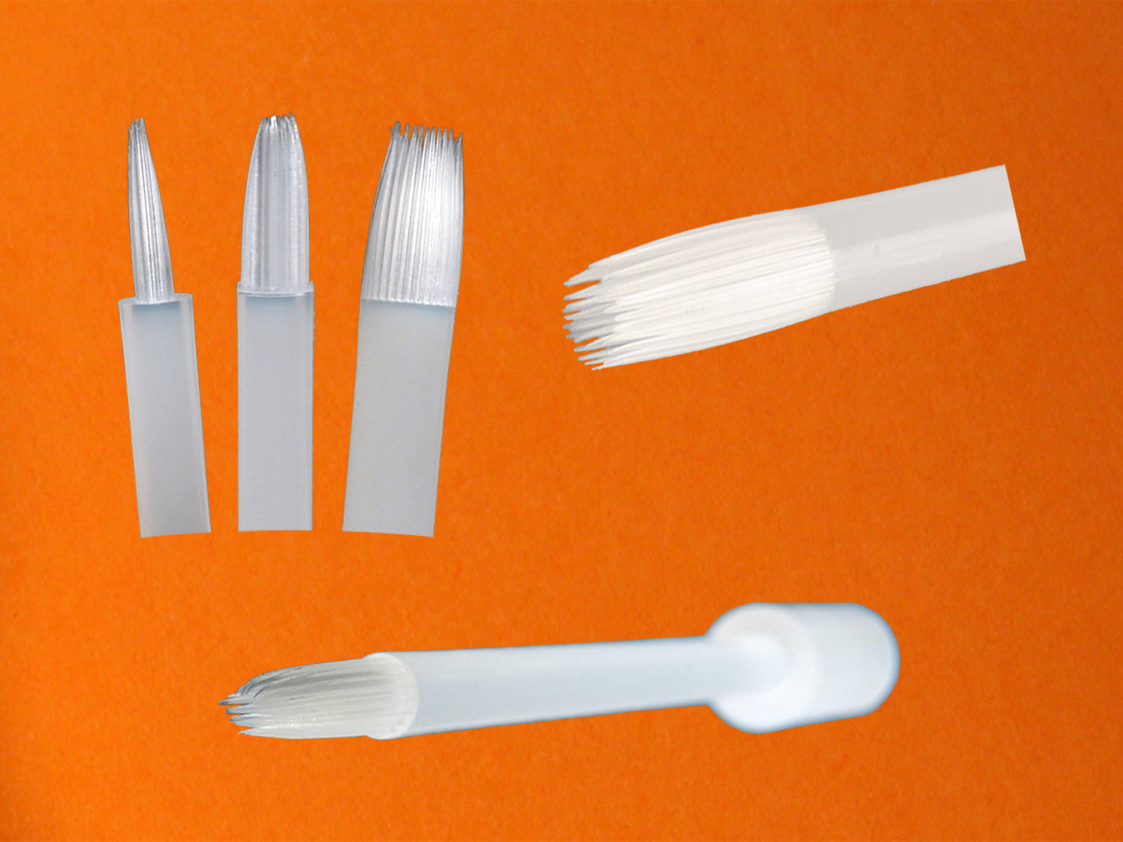 one-piece-brush (Pinsel aus einer Komponente - brush made of one component - ohne Draht - without a wire)